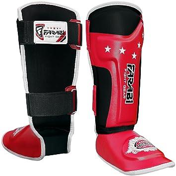RDX Espinilleras Kick Boxing Maya Cuero Shin Gel Empeine Pads MMA Quijotes Foot Muay Thai