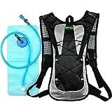 Hydration Pack with 2L Backpack Water Bladder 5 Points Improvement Newly DesignLightweight Outdoor Tactical Survival Reservoir Men Women Kids Camping Hiking Running BikingBag