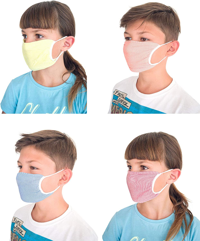 Set 3 Bandas Boca Nariz Adultos Y NI/ÑOS Lavables Reutilizables Tejido bacteriost/ático Relaxsan