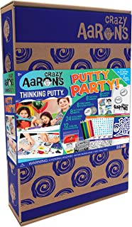 product image for Crazy Aaron's Putty Party Gift Activity Set - 8 Putty Mixing Tins and 12 Concentrates - 68 Piece Putty Birthday Party Set