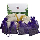 Lavender Sachet and Cedar Bags - Moth Repellent Sachets (20 Pack) Home Fragrance for Drawers and Closets. Natural Clothes Mot