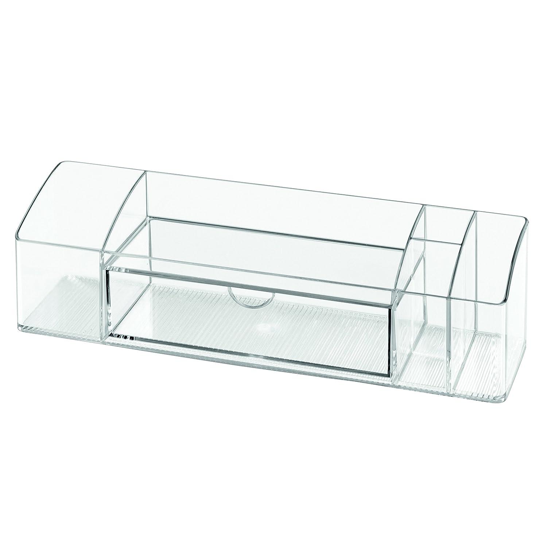 peque/ña Caja para medicinas de pl/ástico con 7 Compartimentos Organizador de medicamentos f/ácil de Limpiar InterDesign iDesign Caja botiqu/ín para el ba/ño o el Armario Transparente