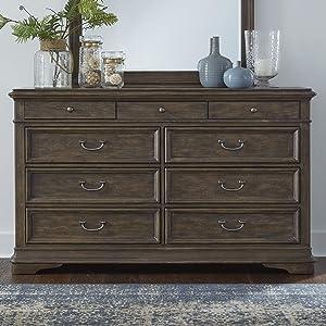 Liberty Furniture Industries Homestead 9 Drawer Dresser, Brown
