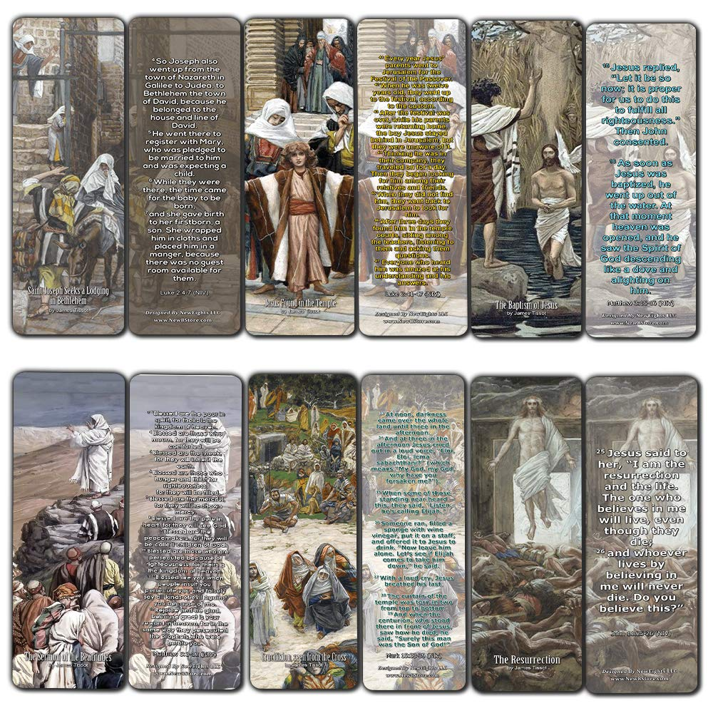Amazon com : The Life of Christ Bookmarks (30 Pack) - Bible