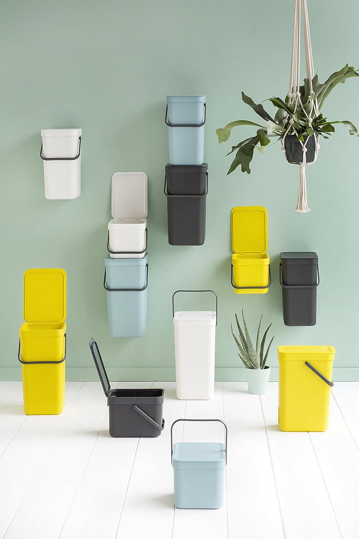 Amarillo Brabantia Sort /& Go Cubo de Basura 6 L