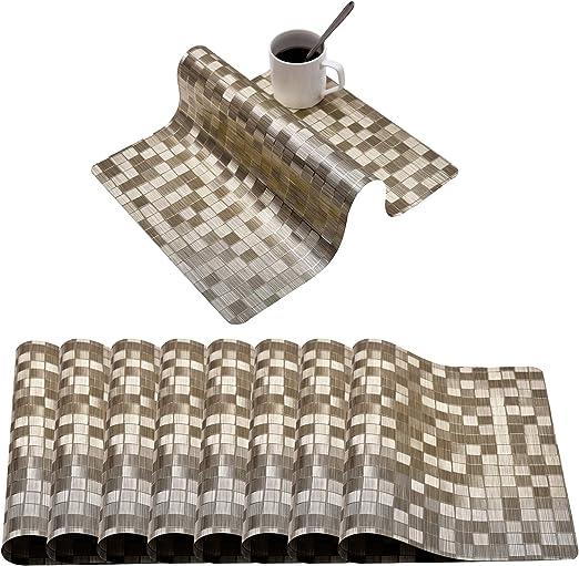 PVC Simple Food Mat Anti-Slip Insulation Waterproof Anti-hot Bowl Placemats LT