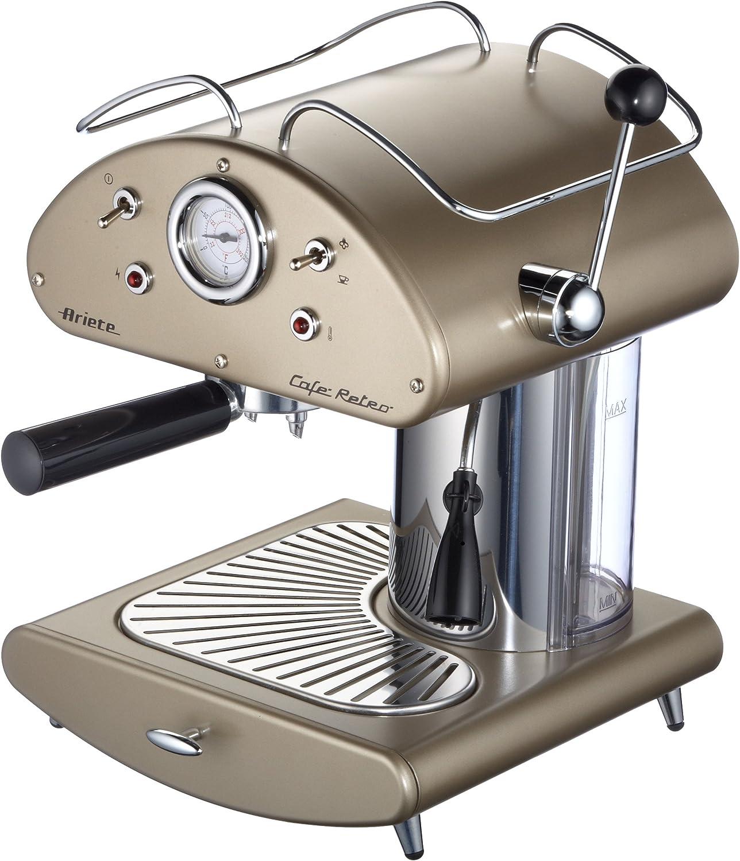 DeLonghi Ariete 1385/13 Retrò - Máquina espresso (950 W, funciona con café y con monodosis), color dorado: Amazon.es: Hogar