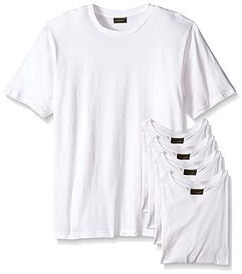 Joseph Abboud Men's 6 Pack Crew Neck T Shirts (Small, White)