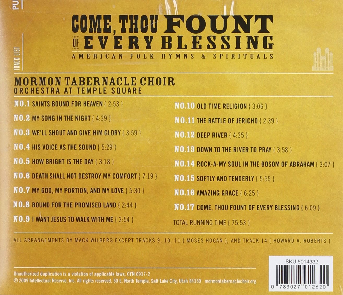 Come Thou Fount of Every Blessing by Mormon Tabernacle