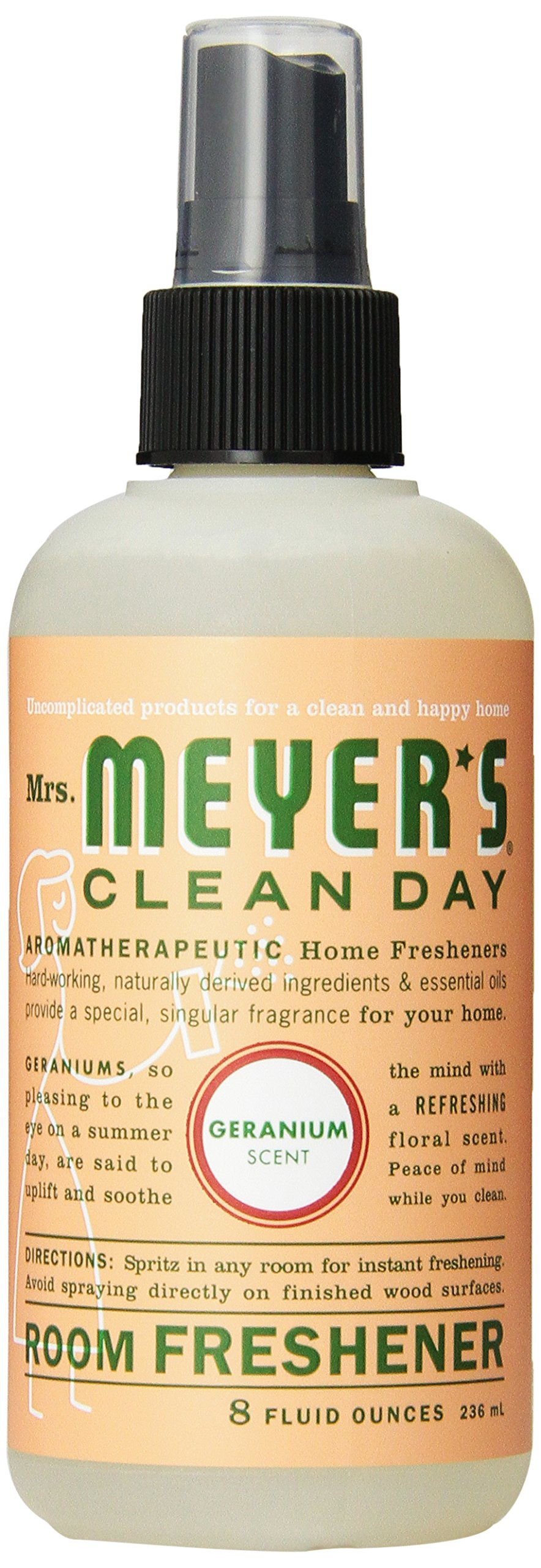 Mrs. Meyer's Geranium Room Freshener, 8-Fluid Ounce Bottles (Pack of 6) by Mrs. Meyer's Clean Day (Image #1)