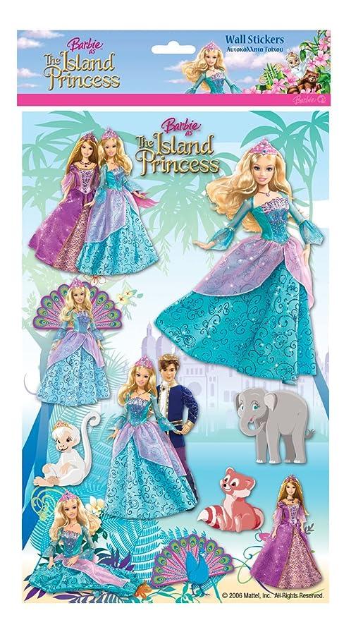 Barbie The Island Princess Wall Stickers: Amazon.co.uk: Kitchen & Home