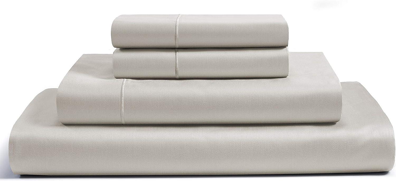 "CHATEAU HOME COLLECTION 100% Egyptian Cotton Sheets Queen Size, 800 Thread Count Linen 4 Piece Sheet Set, Solid Sateen Weave, 16"" Deep Pocket (Fits Upto 18"" Mattress), Long Staple Cotton Bedsheet Set"