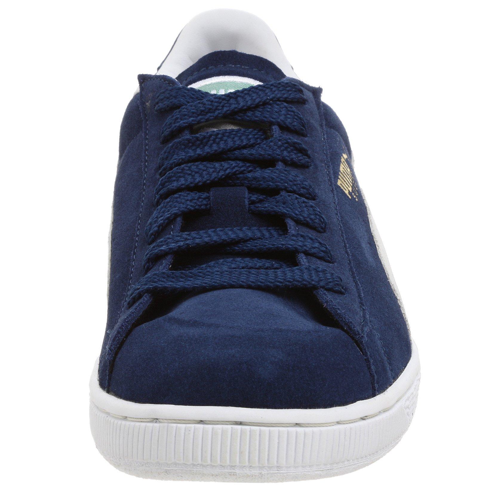 PUMA Suede Classic Sneaker,Blue/White,8 M US Men's by PUMA (Image #4)