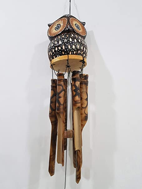 Rustic Owl Wind Chime-Make Your Home//Garden More Attractive.