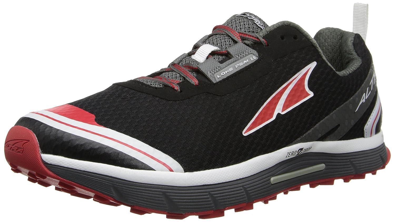 Altura - Zapatillas de Running por Caminos para Hombres Lone Peak 2.0 Zero caída - Negro/Rojo, 45, Malla: Amazon.es: Deportes y aire libre