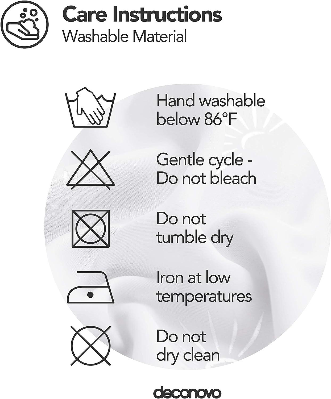 Deconovo Tende Oscuranti Termiche Isolanti Stampate con Anelli per Interni 117x138CM 2 Pannelli Rosa