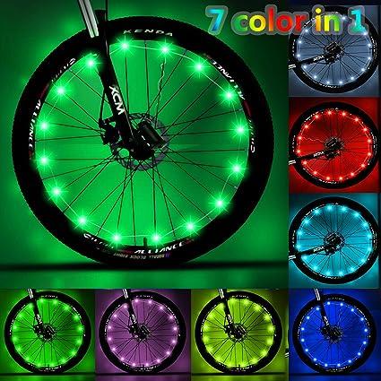 LEDs Cycling Bicycle Bike Wheel Spoke Tire Rim Light Flash String Lamp Christmas