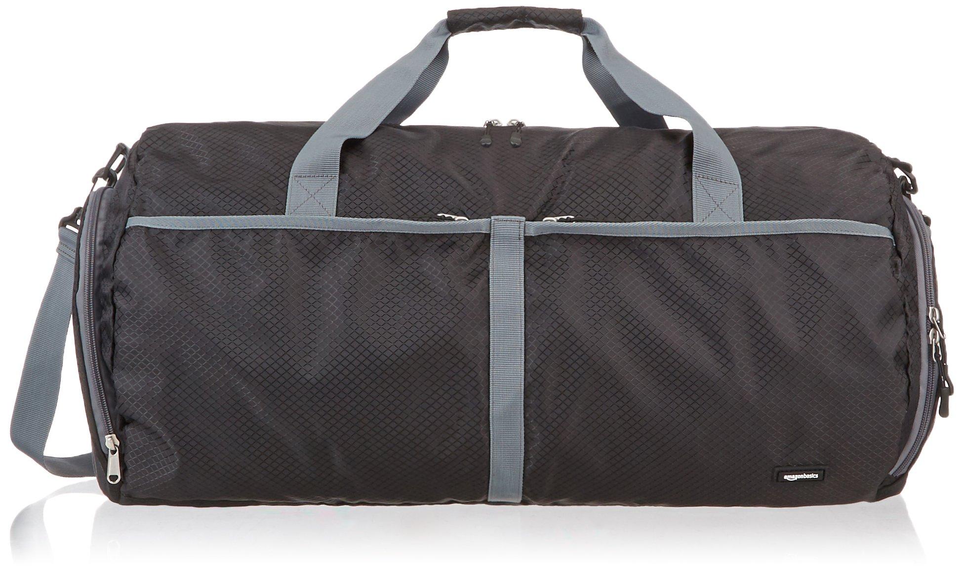 AmazonBasics Packable Travel Duffel, 23-inch, Black