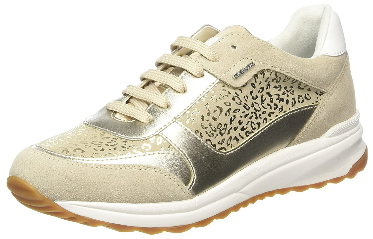 Geox D Airell C, Zapatillas para Mujer 36 EU Beige (Lt Taupe)