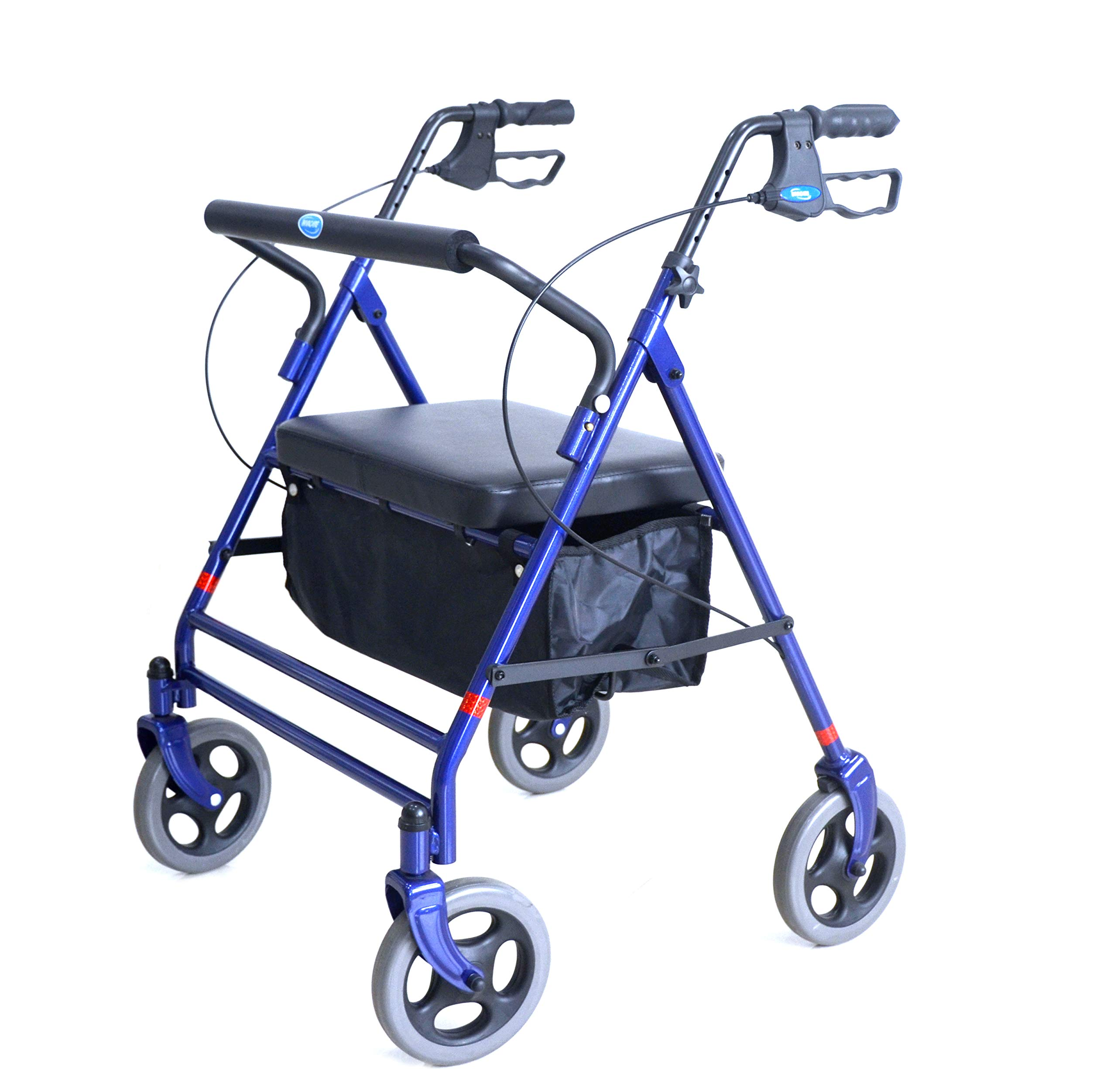 Invacare Bariatric Rollator, with Flip-up Padded Seat, 500 lb. Weight Capacity, 66550 by Invacare