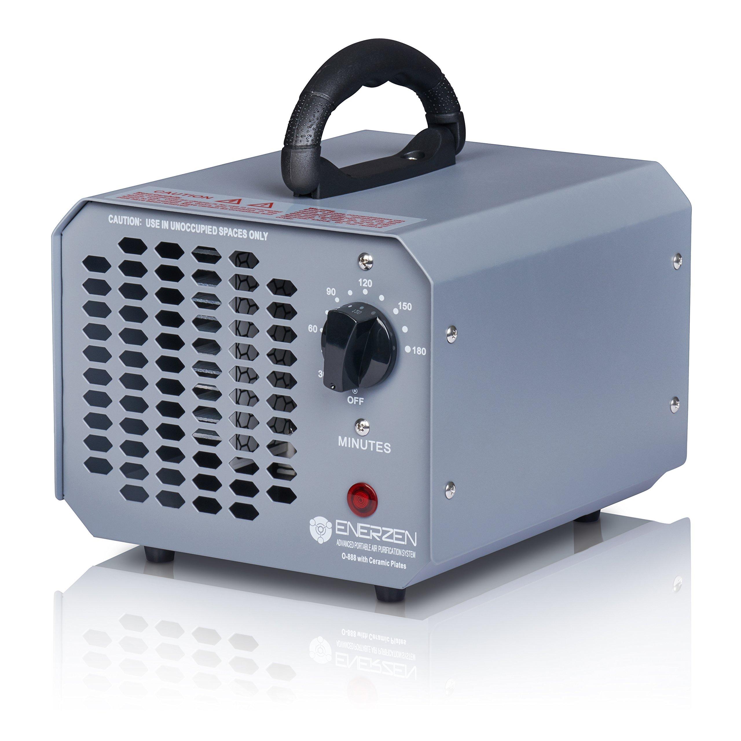 Enerzen High Capacity Commercial Ozone Generator 9,000mg Industrial Strength O3 Air Purifier Deodorizer Sterilizer (9,000mg - Gray)