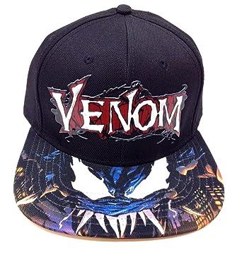 e3185c589c65a Amazon.com  Marvel Comics Venom 3D Text Rubber Logo Sublimated Bill ...