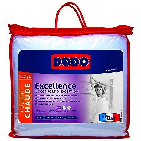 Dodo Excellence Couette 140 X 200 Cm Chaude Synthetique Anti