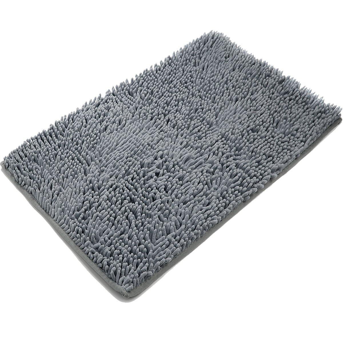 Delicieux Non Slip Microfiber Shag Bathroom Rug Dark Gray Bath Mats Shower VDOMUS