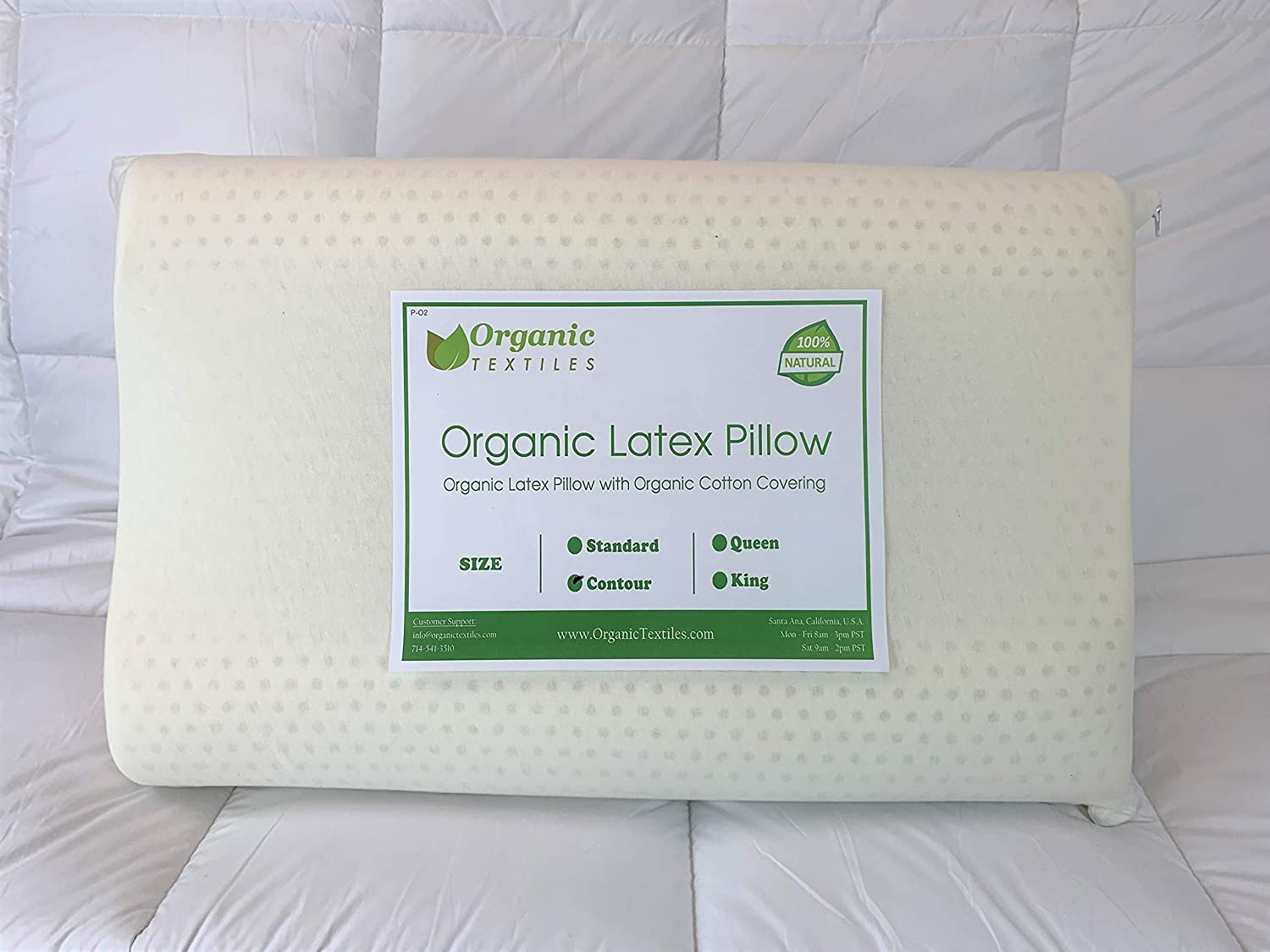 Amazon.com: 100% Organic Latex Contour Pillow for Neck (GOTS & GOLS  Certified) - Cervical Pillow – Ergonomic Contour Design for Neck and Spine  Support - for ...