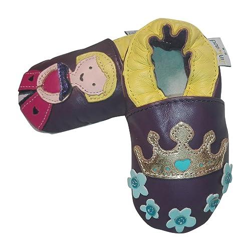 Piel Zapatillas Zapatillas de bebé Jinw Brentwood Princesa, Color Morado, Talla 18/19: Amazon.es: Zapatos y complementos