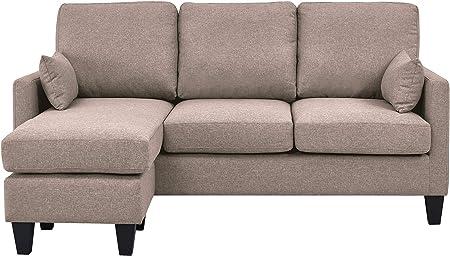 Sofá-cama con chaise longe de 3 plazas; medidas: sofá 180x87/144x88 cama: 180x114/166x46cm,Chaise lo