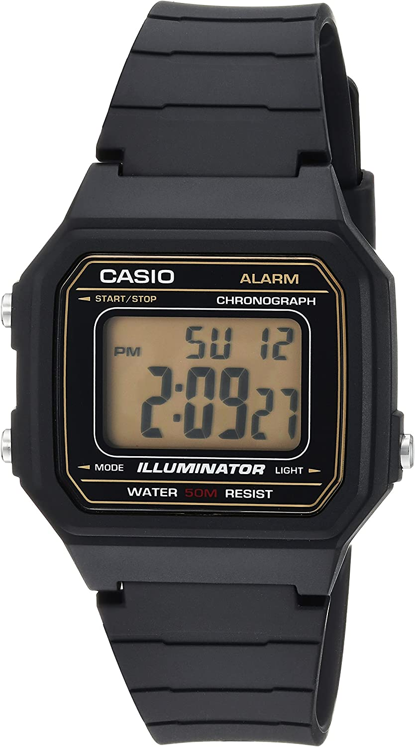 Casio Men's 'Classic' Quartz Resin Casual Watch, Color:Black (Model: W-217H-9AVCF)