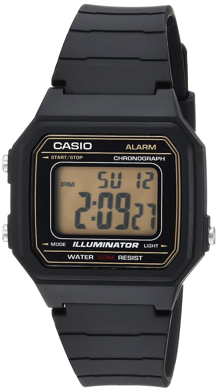 Casio Men s Classic Quartz Resin Casual Watch, Color Black Model W-217H-9AVCF