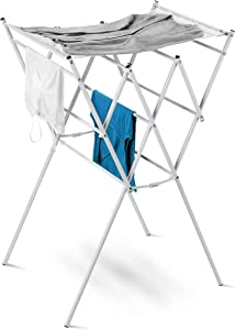Honey-Can-Do Expandable Drying Rack with Mesh Top, White Finish