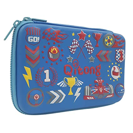 92e113a55be Shopster 3D Embossed Design Cool Car Racing School Boy Hardtop Pencil Case  Big Pencil Box with Compartment for Kids (Blue): Amazon.in: Home & Kitchen