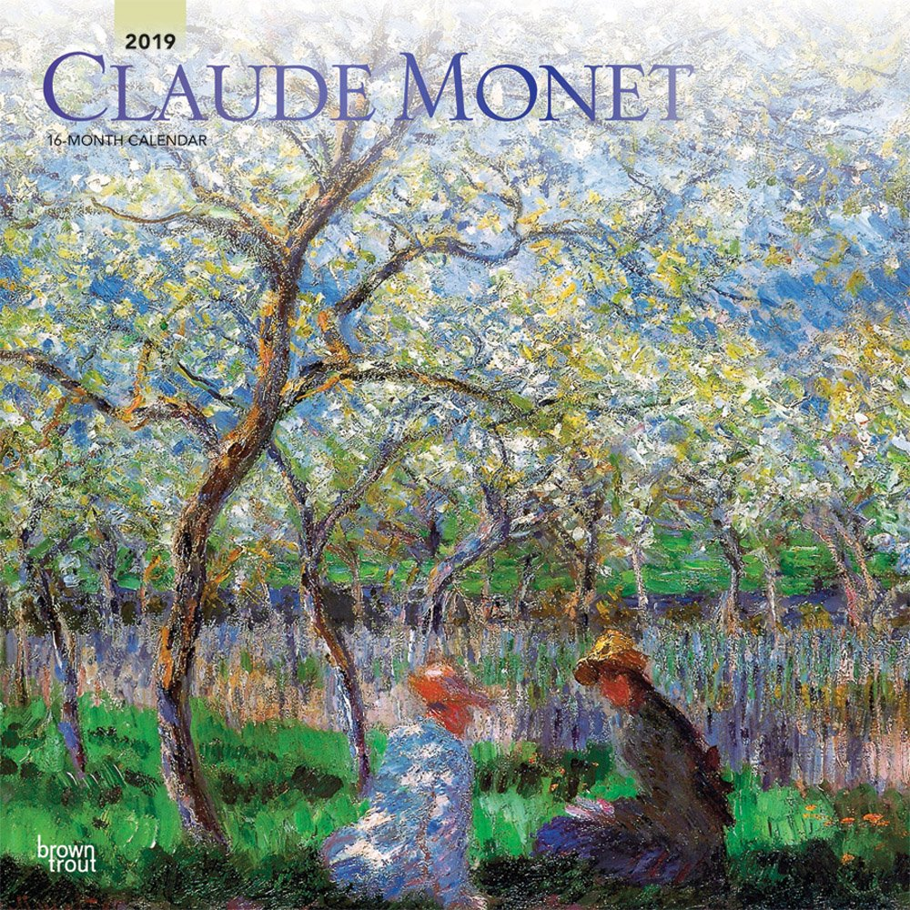 Claude Monet 2019 12 x 12 Inch Monthly Square Wall Calendar, Impressionist Impressionism Art Artist (Multilingual Edition) by BrownTrout Publishers