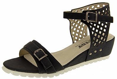 47db1463137 Betsy Womens Wedge Summer Sandals Blue 6 B(M) US