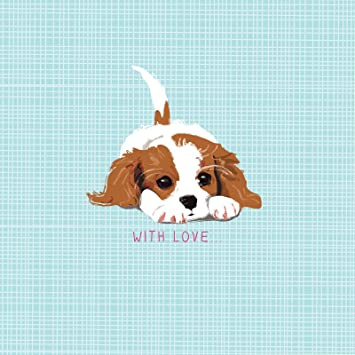 Little Cavalier King Charles Waggy Tails Charity Birthday Card