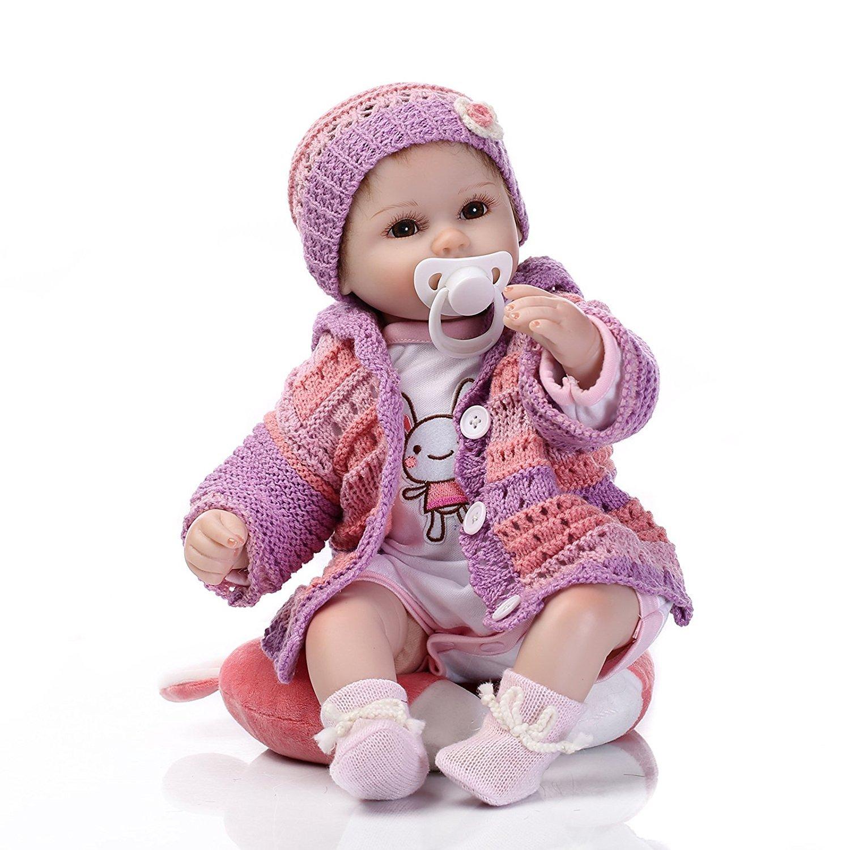 Rosay Reborn Baby Puppe 17 Zoll 43 Spielzeug cm Soft Silikon Vinyl Reborn Lebensecht Spielzeug 43 Geschenk Puppen Baby Mädchen 587b77