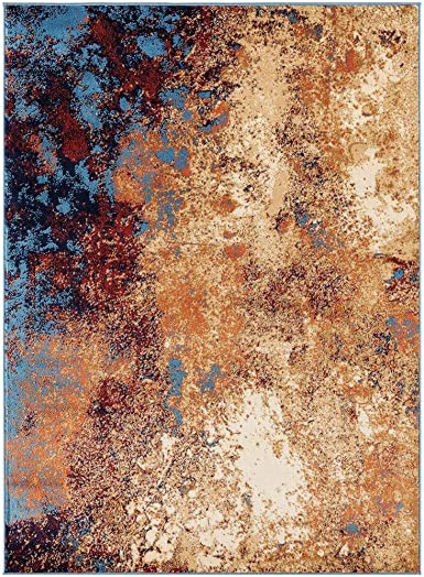 Luxe Weavers Howell Collection Abstract 8×10 Blue Area Rug