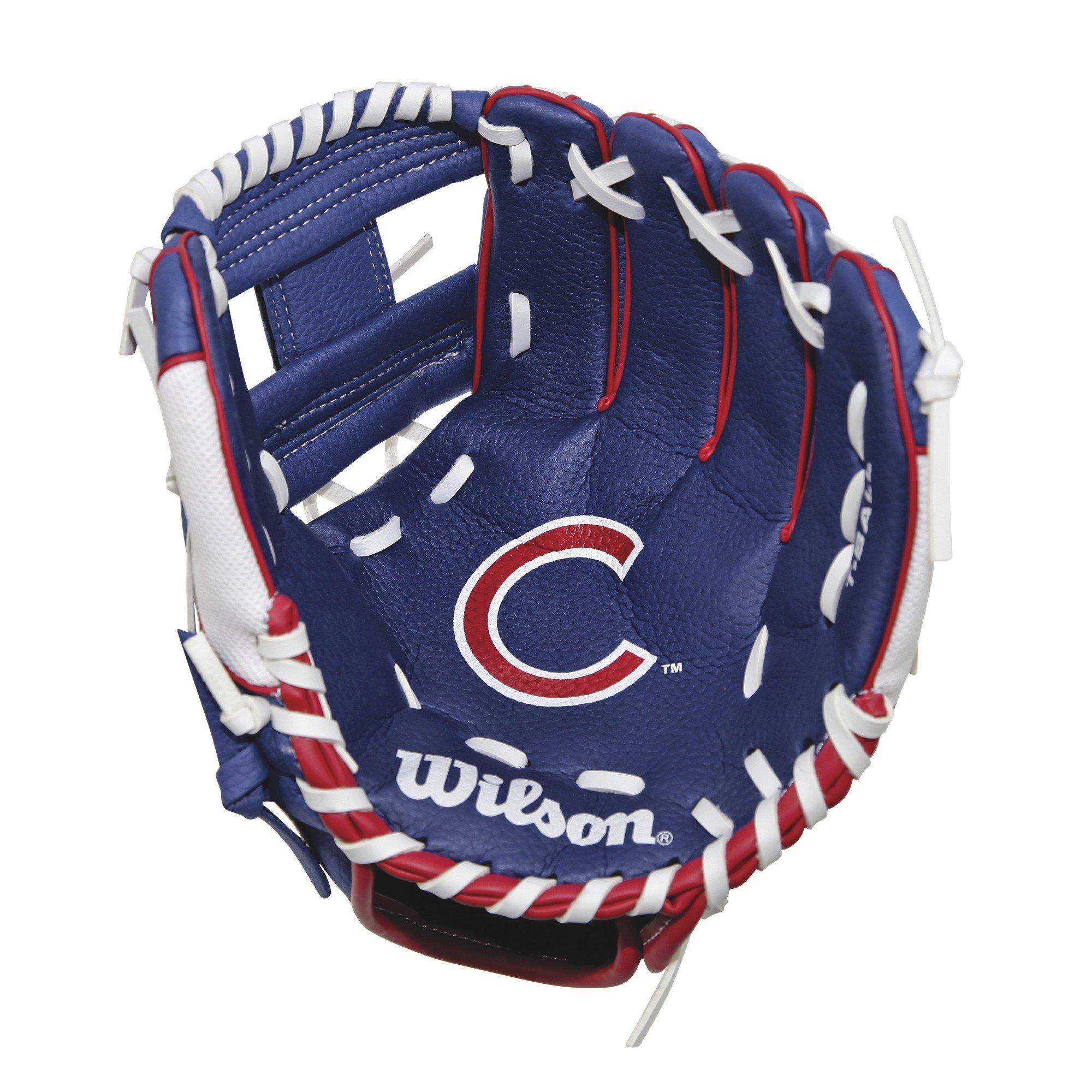 Wilson A0200 Chicago Cubs Baseball Gloves, 10''