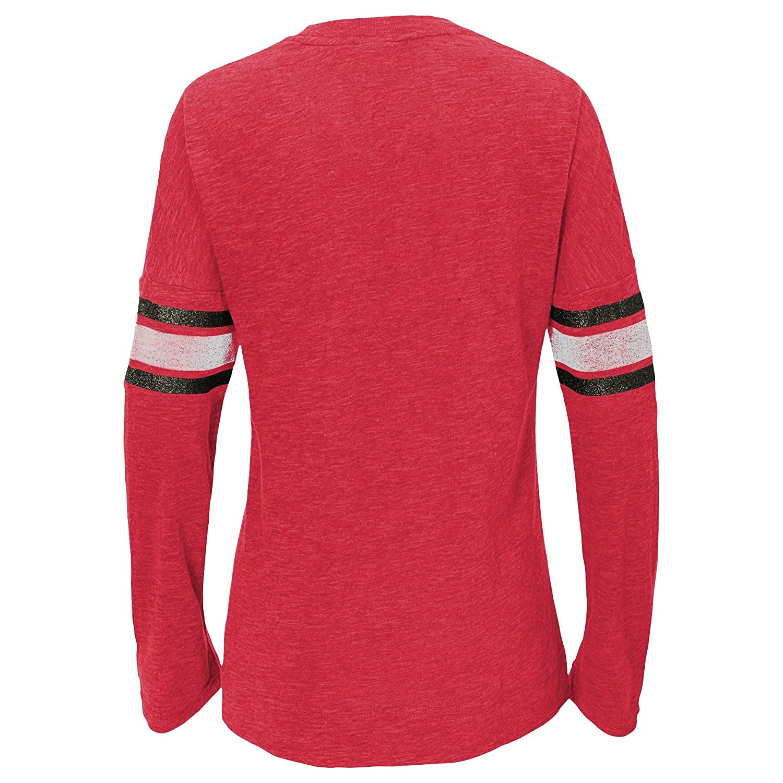Outerstuff NFL Tampa Bay Buccaneers Youth Boys Team Captain Long Sleeve Slub Tee Red 10-12 Youth Medium