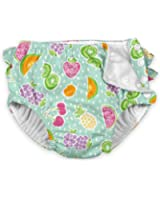 i play. Baby Girls' Ruffle Snap Reusable Absorbent Swimsuit Diaper