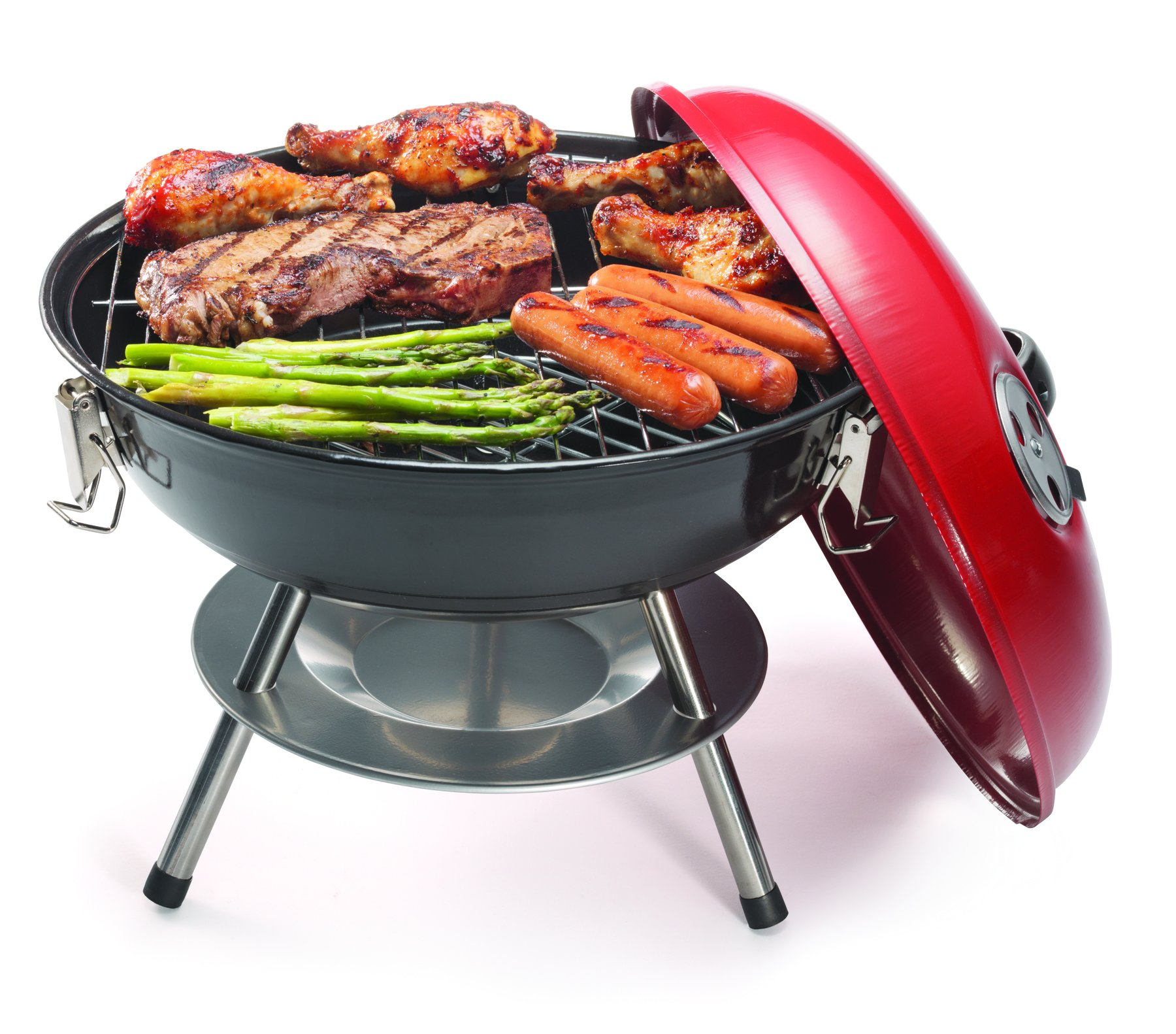 Cuisinart CCG-190RB Portable Charcoal Grill, 14-Inch, Red by Cuisinart