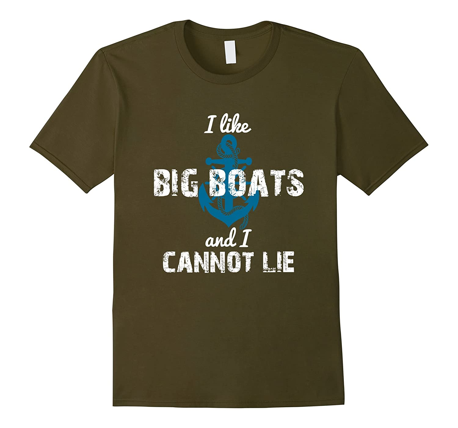 BBTee I like Big Boats and I Cannot Lie - Anchor T-Shirt-RT