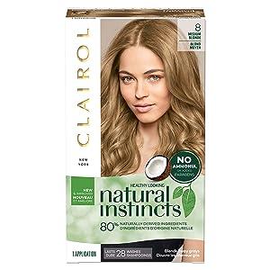 Clairol Natural Instincts Semi-Permanent, 8 Medium Blonde, Moonlight Blonde, 1 Count