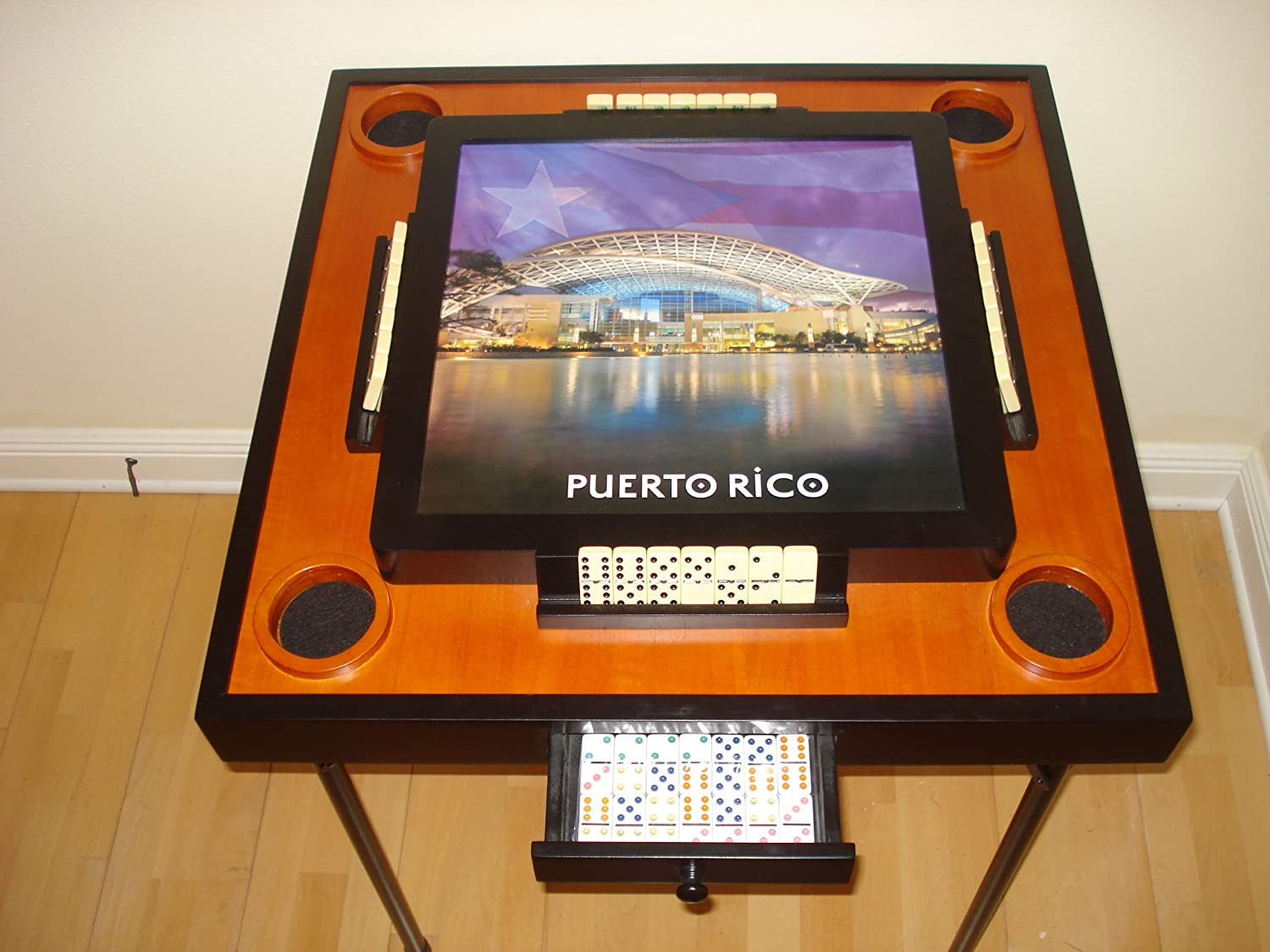 Amazon.com: Puerto Rico (Convention Center) Domino Table and Game Set: Toys & Games