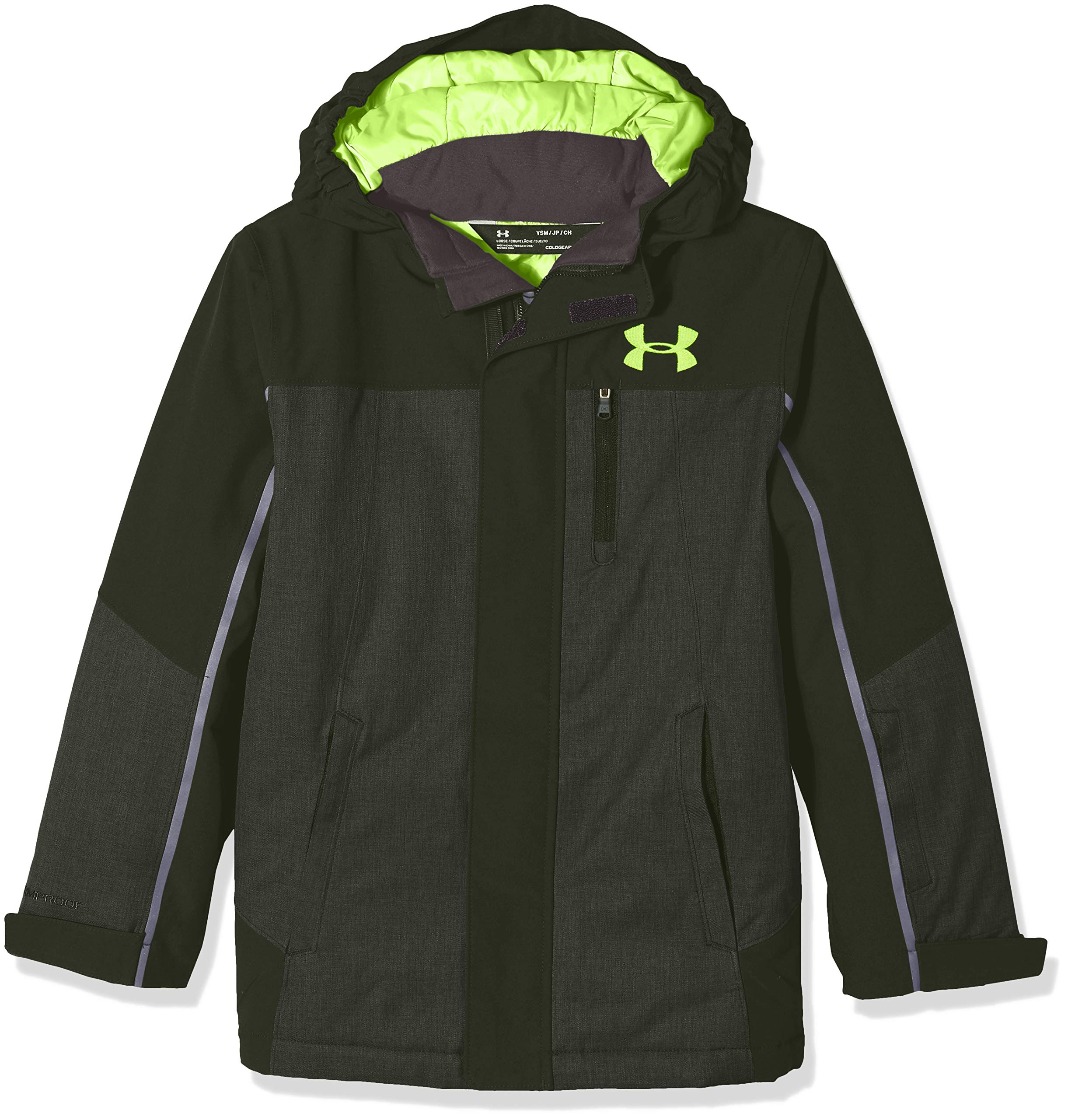 Under Armour Boys' Big Castlerock Jacket, Artillery Green, Large (14/16)