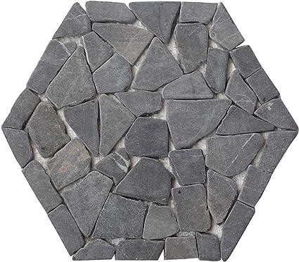 Interlocking Hexagon Pebble Floor Tiles (5-Pack) Kitchen ...