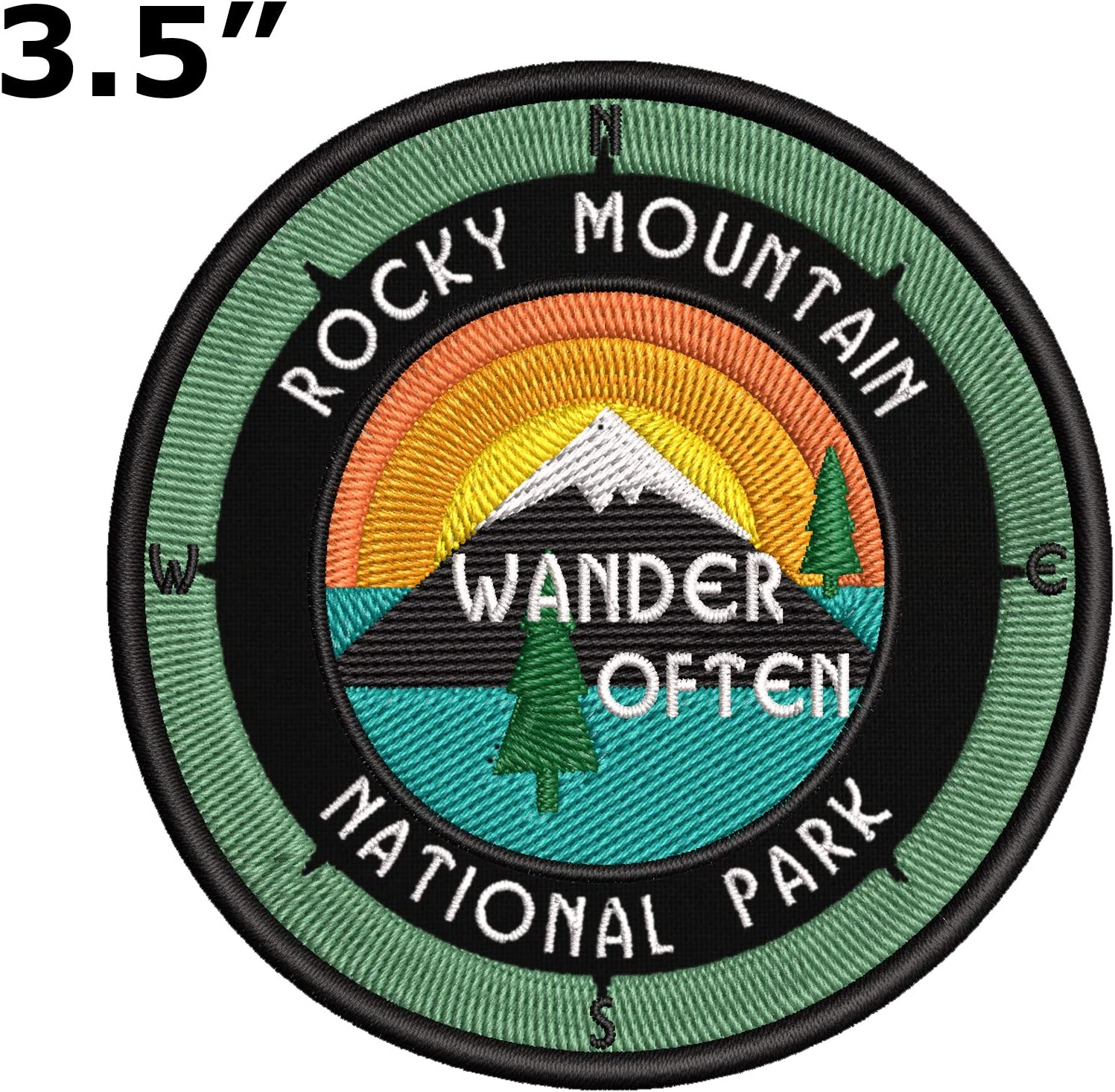 Rocky Mountain National Park Embroidered Patch Iron//Sew-On Applique Souvenir